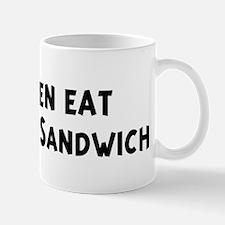 Men eat Meatball Sandwich Mug