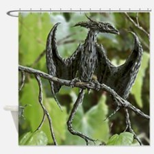 Wood Dragon Shower Curtain