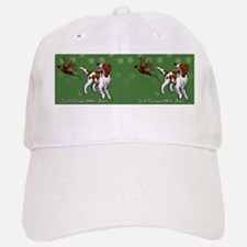 Irish Red and White Setter with Clovers Baseball Baseball Cap