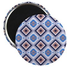Blue and Brown Aztec Pattern Magnet