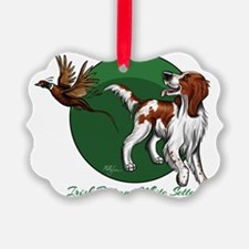 Irish Red and White Setter Ornament