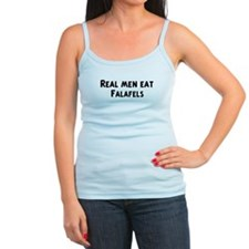 Men eat Falafels Jr.Spaghetti Strap