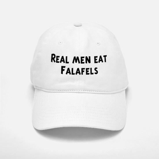 Men eat Falafels Baseball Baseball Cap