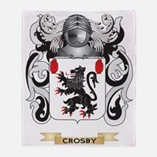 Crosby Coat of Arms Throw Blanket