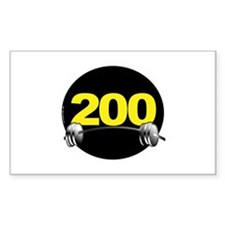 Bench Press 200 lbs Rectangle Bumper Stickers