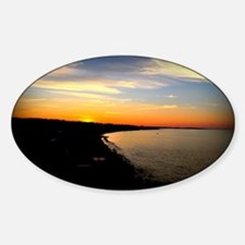 Sunset over Sand Hills with Border Decal
