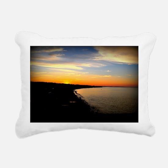 Sunset over Sand Hills w Rectangular Canvas Pillow