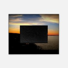 Sunset over Sand Hills with Border Picture Frame