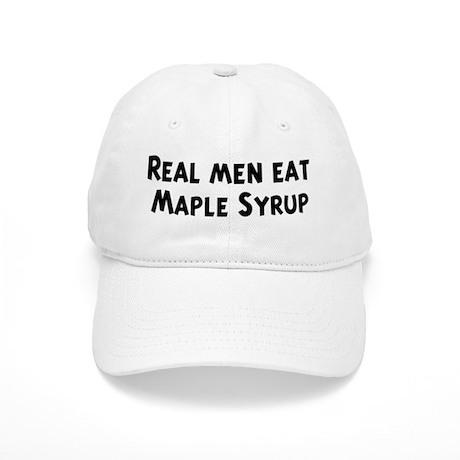 Men eat Maple Syrup Cap