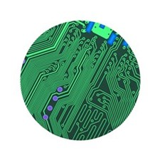 "Circuit Board 3.5"" Button"