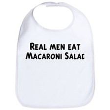 Men eat Macaroni Salad Bib