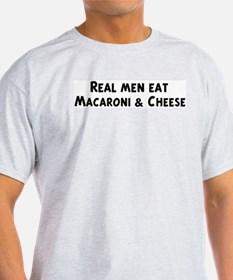 Men eat Macaroni & Cheese T-Shirt