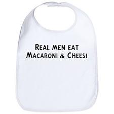 Men eat Macaroni & Cheese Bib