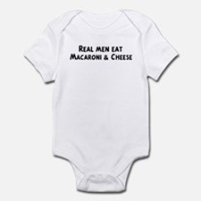 Men eat Macaroni & Cheese Infant Bodysuit