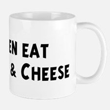 Men eat Macaroni & Cheese Mug