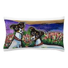 Rat Terrier love Pillow Case
