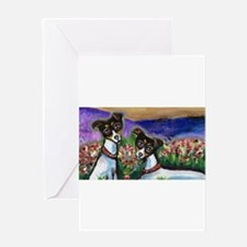 Rat Terrier love Greeting Cards