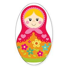 Matroyshka Girl, Pink Decal
