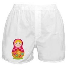 Matroyshka Girl, Pink Boxer Shorts