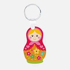 Matroyshka Girl, Pink Keychains