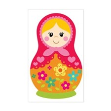 Matroyshka Girl, Pink Decal