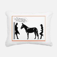 mule sense don't touch m Rectangular Canvas Pillow