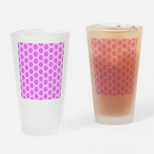 3 Shades of pink flowers Drinking Glass