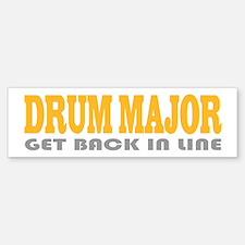Funny Drum Major Bumper Bumper Bumper Sticker