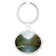 Arnhem_-_Vijver_bij_de_Hemelse_Berg Oval Keychain