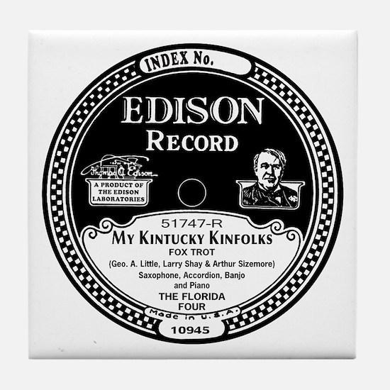 My Kintucky Kinfolks Edison Record Tile Coaster