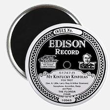 My Kintucky Kinfolks Edison Record Magnet