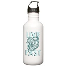 live fast dark Water Bottle