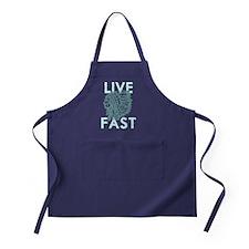 live fast dark Apron (dark)