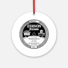 Memphis Blues Edison record label Round Ornament
