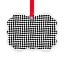 Houndstooth  White Ornament