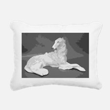 Borzoi Lounging Rectangular Canvas Pillow