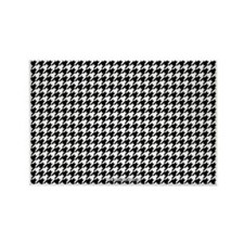 Houndstooth  White Rectangle Magnet