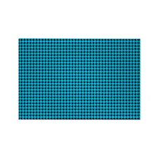 Houndstooth  Blue Rectangle Magnet