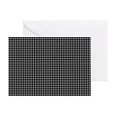 Houndstooth   Grey Greeting Card
