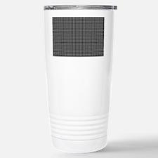 Houndstooth   Grey Travel Mug