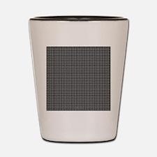 Houndstooth   Grey Shot Glass