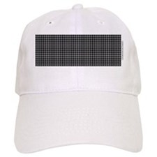 Houndstooth  Grey Baseball Cap