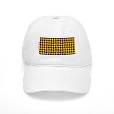 Houndstooth  Yellow Baseball Cap