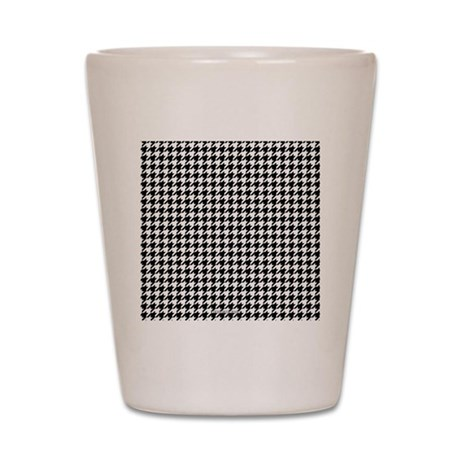 Houndstooth White Shot Glass