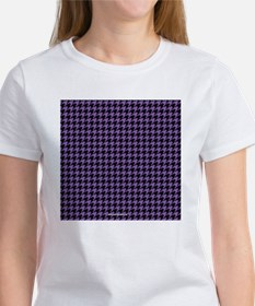 Houndstooth  Purple Tee