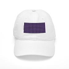 Houndstooth  Purple Baseball Cap
