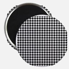 Houndstooth  White Magnet