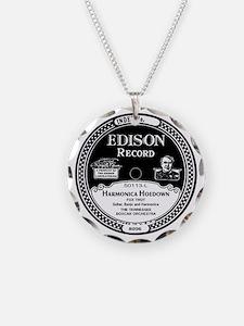 Harmonica Hoedown Edison Rec Necklace Circle Charm