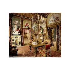 Neuschwanstein_dining_room_00184u Throw Blanket