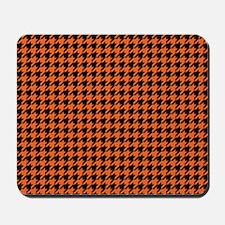 Houndstooth  Orange Mousepad
